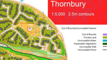 Thornbury map extract